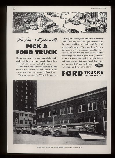 This is a line of Ford trucks With the Marmon 4x4